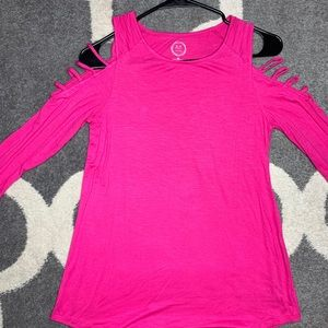 XS Maurice's cold shoulder hot pink